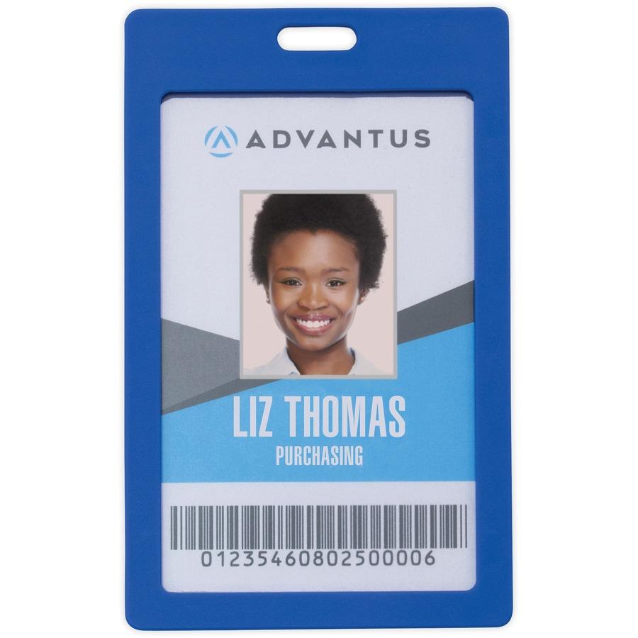 avt97067 advantus vertical rigid id badge holder office supply hut
