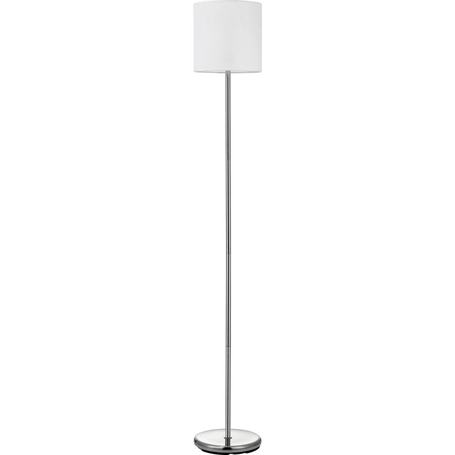 Lorell linen shade 10 watt led floor lamp for Led floor lamps for office
