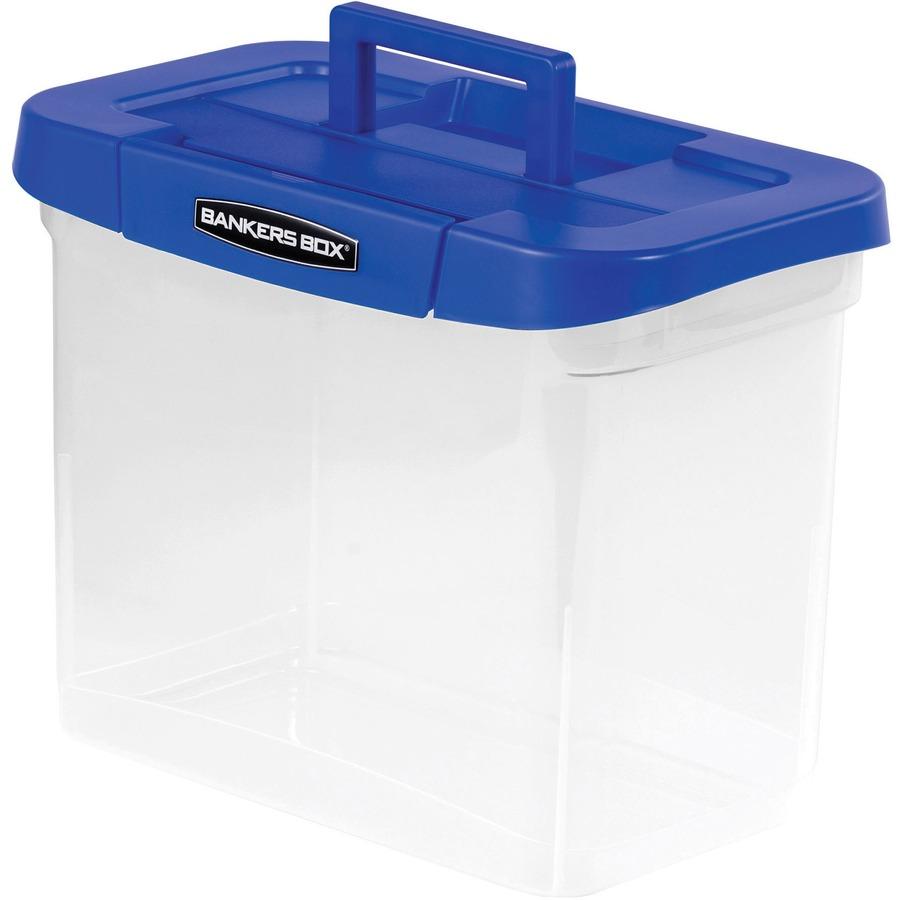Fellowes Bankers Box 174 Heavy Duty Portable Plastic File Box