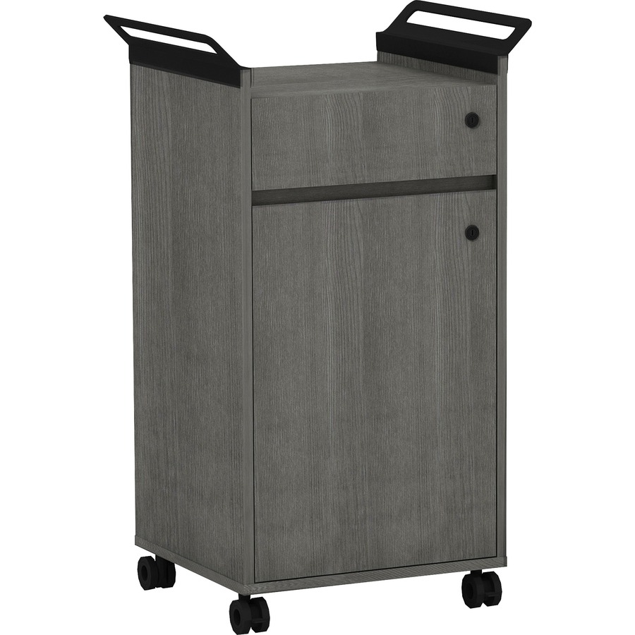 Portable Storage Cabinets : Lorell mobile storage cabinet with drawer