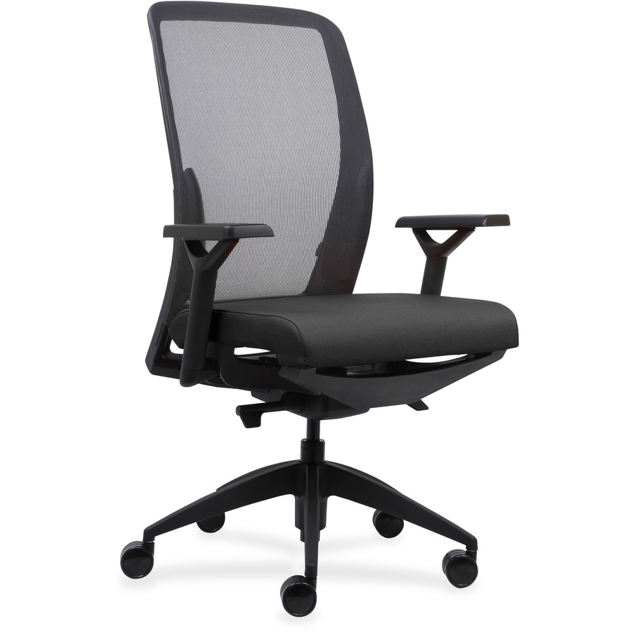lorell executive mesh back fabric seat task chair icc business