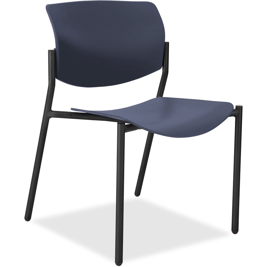 lorell stack chairs with molded plastic seat back direct office buys