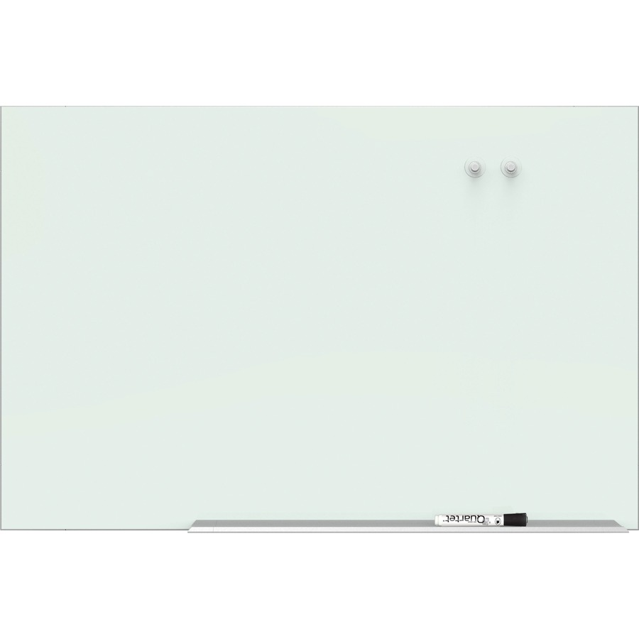 Quartet Element Magnetic Glass Dry Erase Board QRTG8548E
