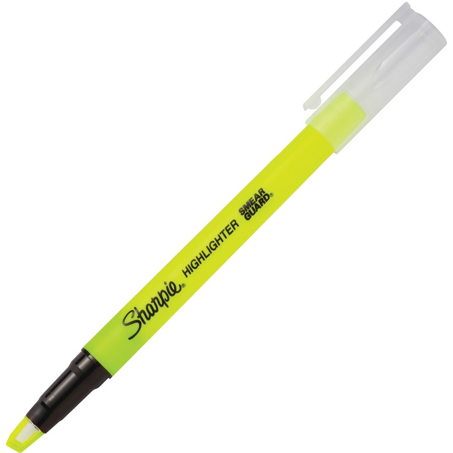 Sanford Sharpie Clear View Highlighters 2//Pkg-Yellow