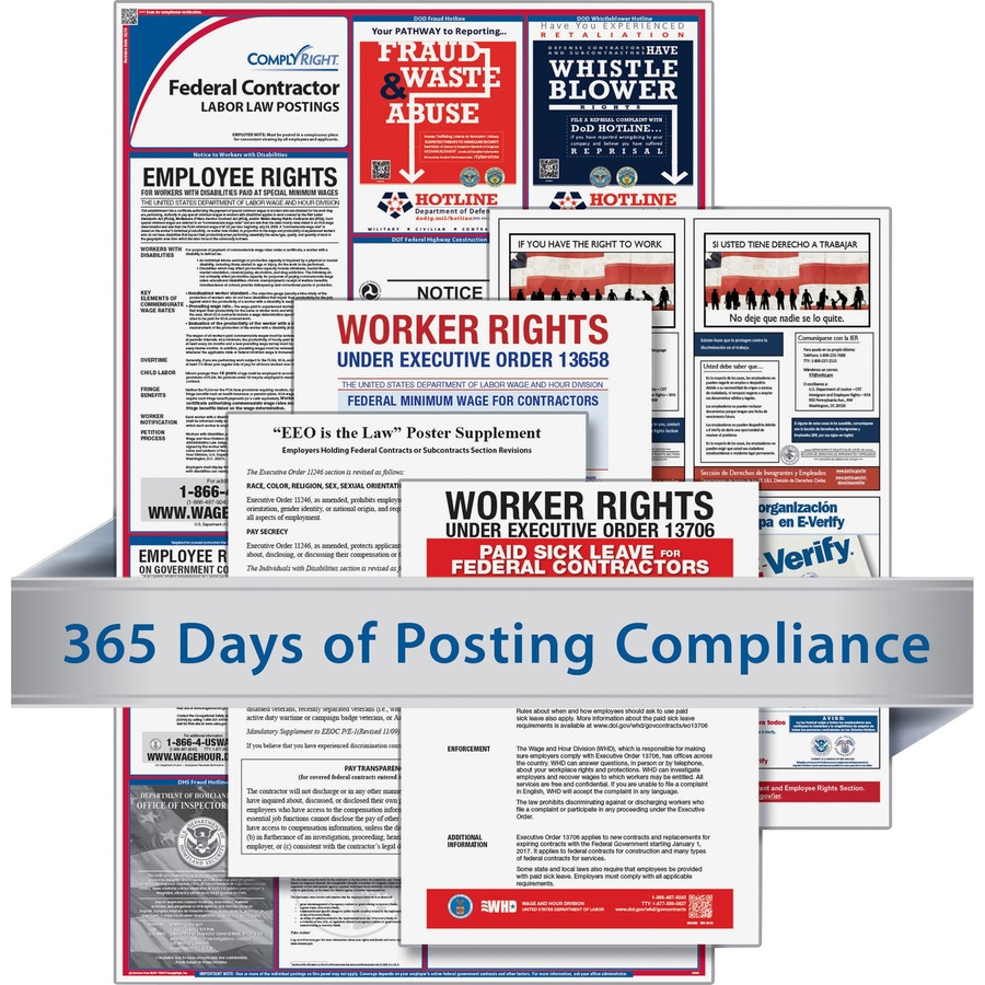 TFP Federal Contractors Labor Law Poster TFPCRPS03