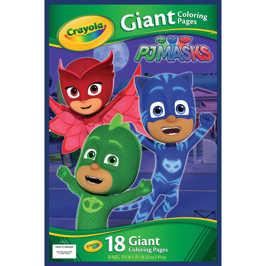 Crayola Pj Masks Giant Coloring Pages Icc Business Products