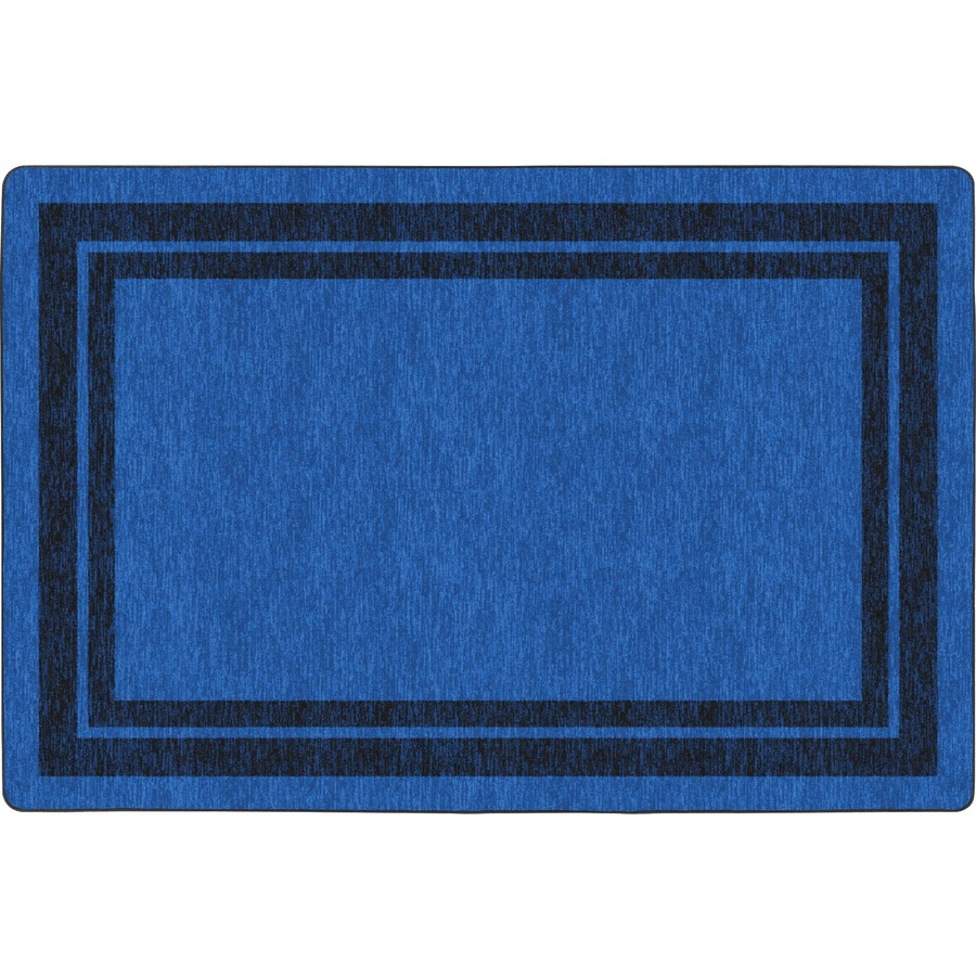 Double Dark Tone Border Blue Rug
