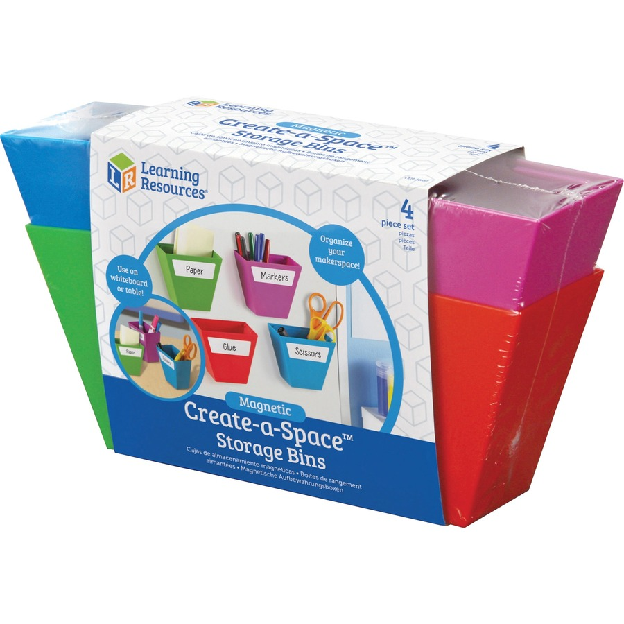 Learning Resources Create A Space 4 Piece Storage Bins LRNLER3807