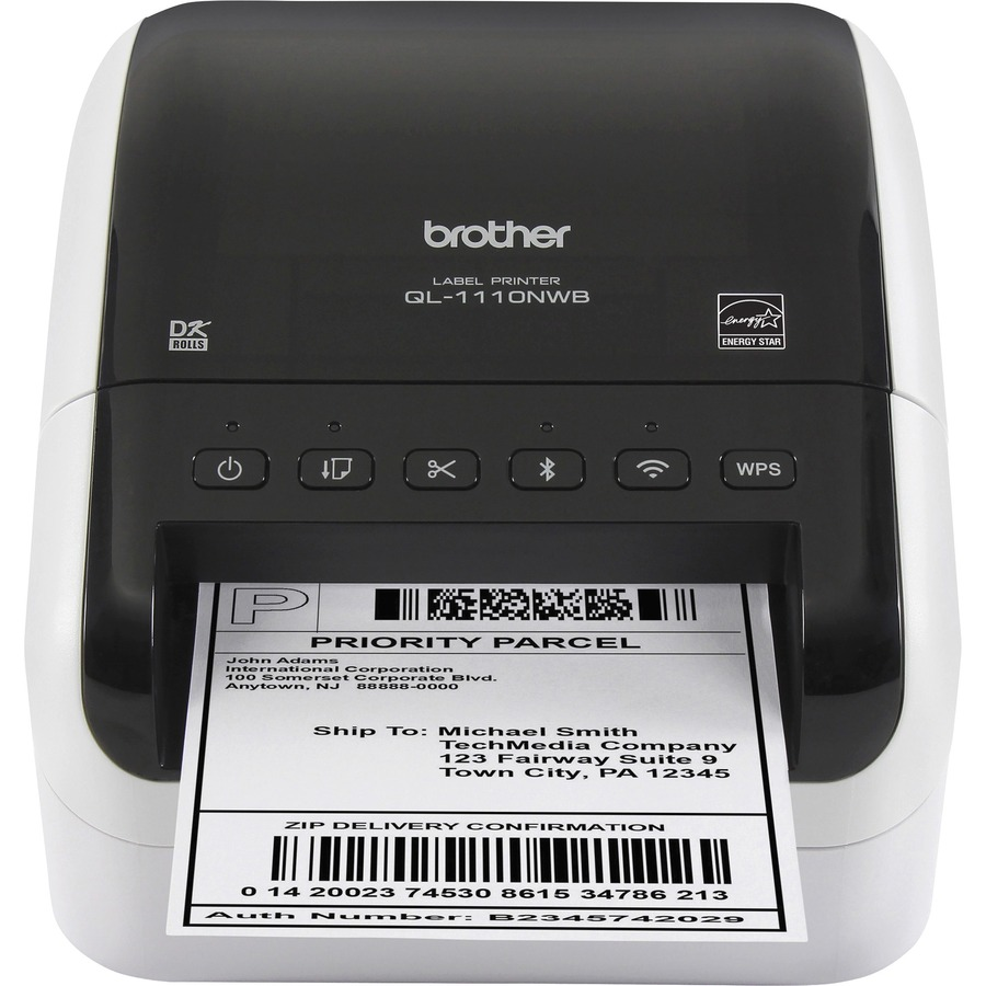Brother QL-1110NWB Direct Thermal Printer - Monochrome - Desktop ...