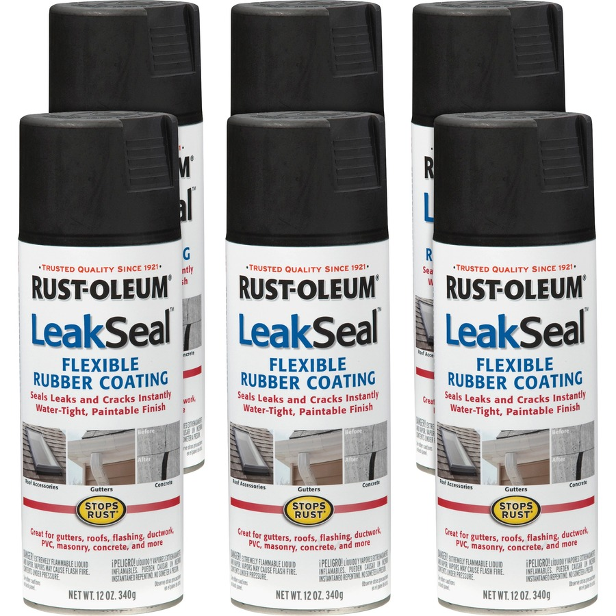 LeakSeal Flexible Rubber Coating Spray - Black