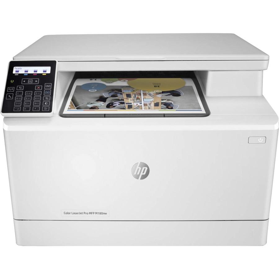 HP LaserJet Pro M180nw Laser Multifunction Printer - Color - Plain Paper  Print - Desktop Copier/Printer/Scanner - 27 ppm Mono/19 ppm Color Print -  600 x 600 ...