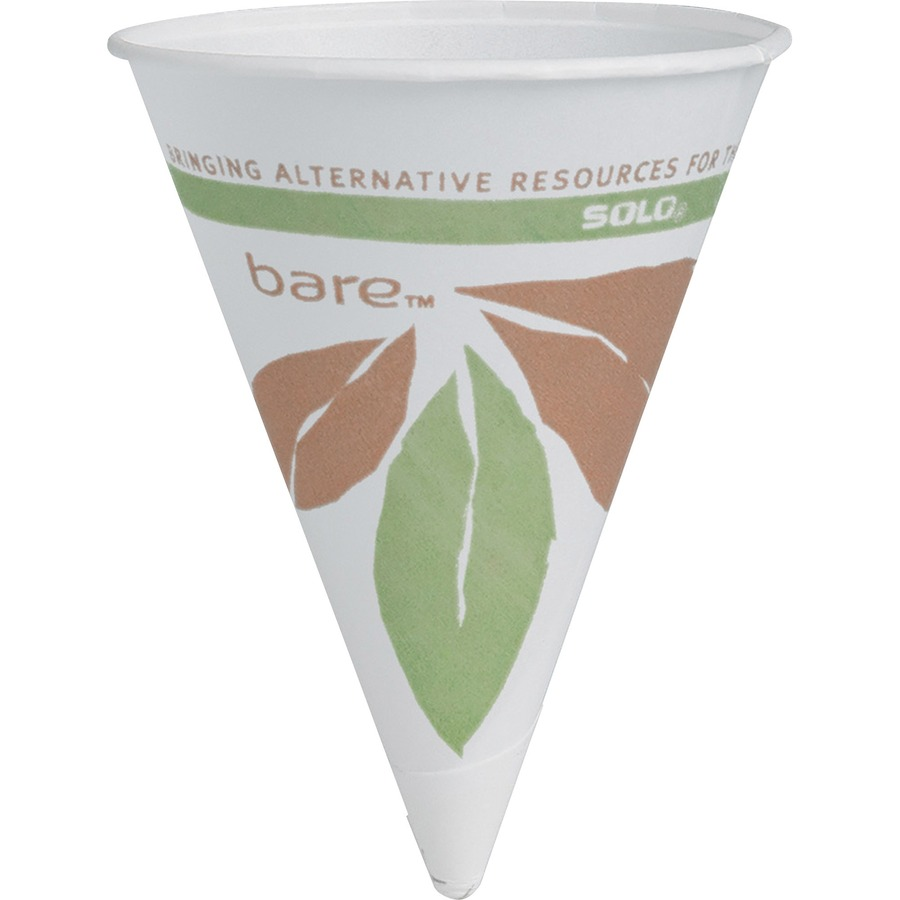 4oz Disposable Individual Roll Rim Paper Cones Cups for Water Cooler 200-5000