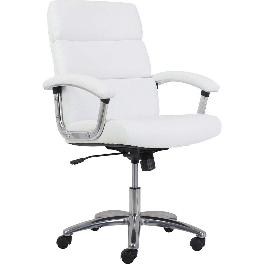 HON Traction Modern Executive Chair - 5-star Base - White - Leather -  19 50