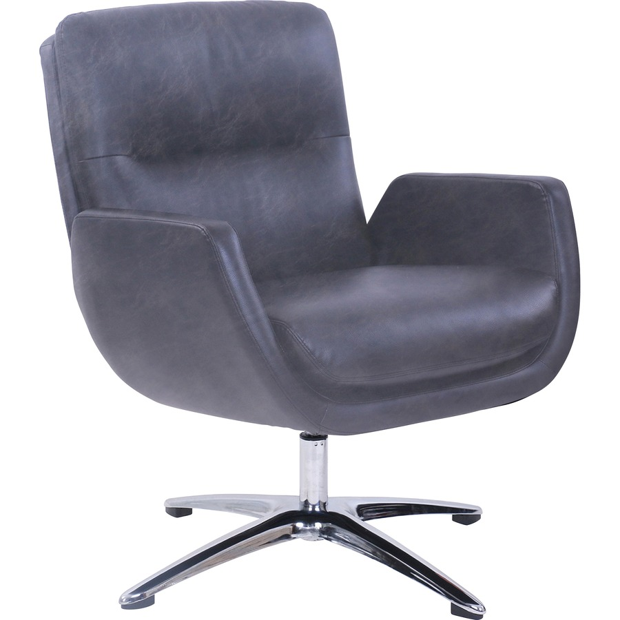 Lorell Distressed Soft Touch Lounge Chair Polyurethane