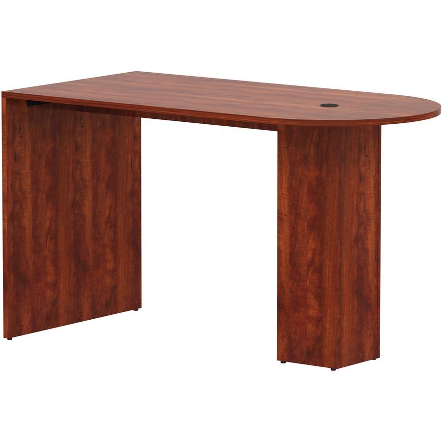 Lorell Essentials Laminate Peninsula Cafe Table - 71
