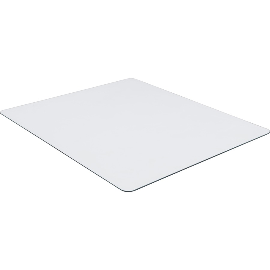 Lorell Tempered Glass Chairmat Floor 50 Quot Length X 44
