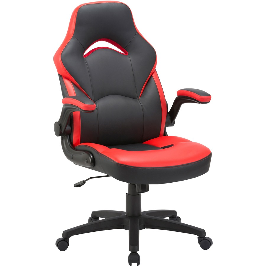 Admirable Lorell Bucket Seat High Back Gaming Chair Red Black Seat Red Black Back 5 Star Base 28 Length X 20 5 Width X 47 5 Height Dailytribune Chair Design For Home Dailytribuneorg