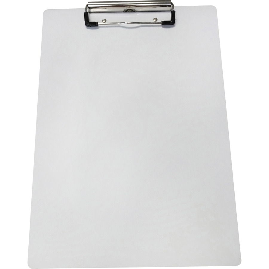 "Oic Recycled Plastic Clipboard 8.50/"" X 11/"" Low-profile Blue Plastic"