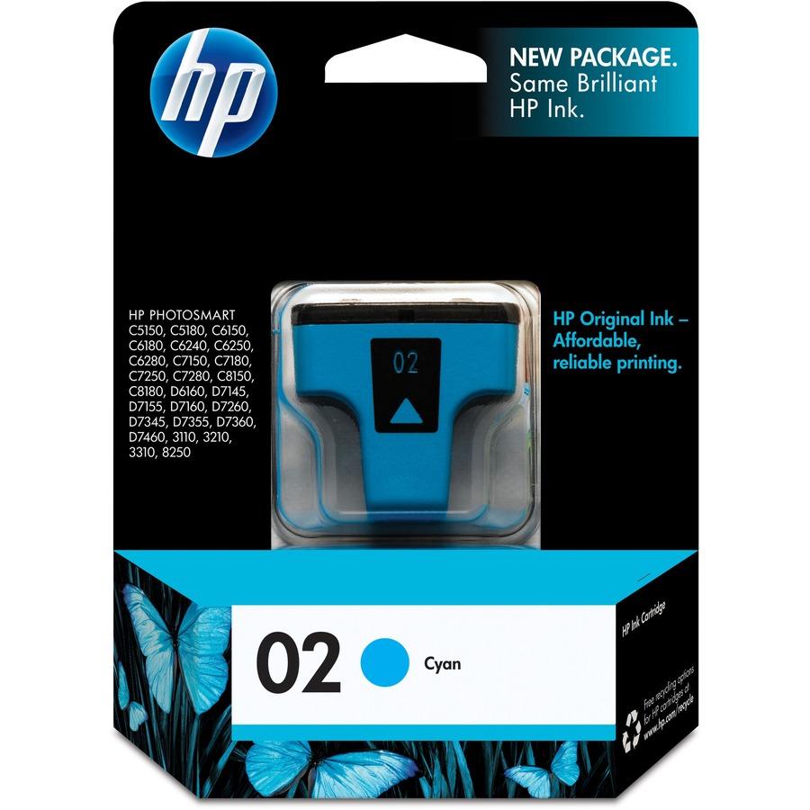 HP 2 Original Ink Cartridge - Inkjet - 400 Pages - Cyan - 1 Each