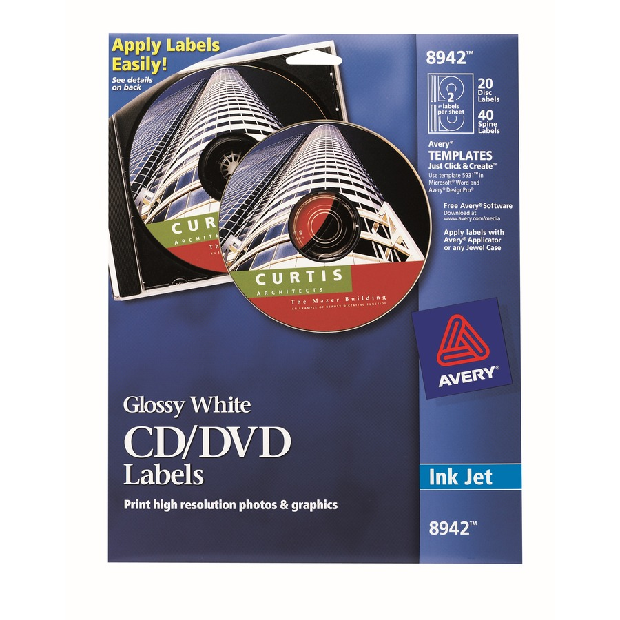 Avery 8942 Avery Cd Labels Ave8942 Ave 8942 Office Supply Hut