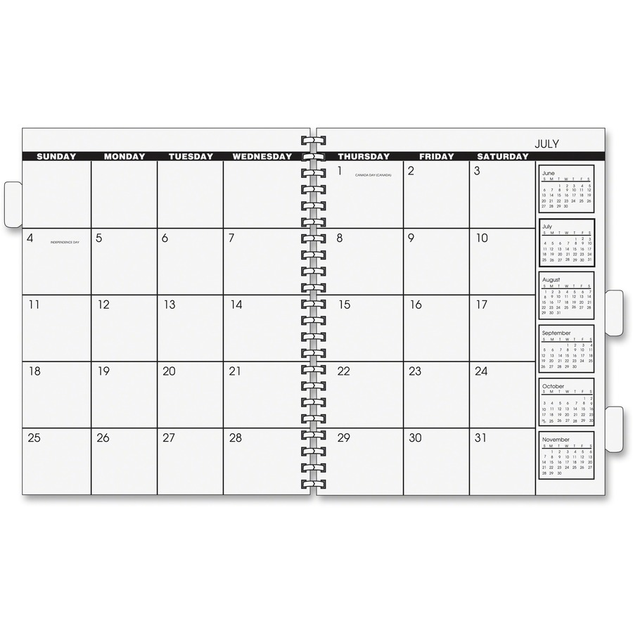 Academic Calendar Planner Refill : At a glance monthly planner refill aag