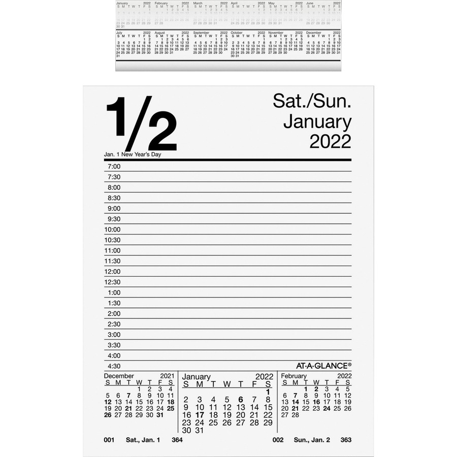 At A Glance Daily Pad Style Desk Calendar Refill Icc Business