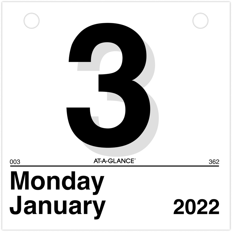 at-a-glance  u0026quot today is u0026quot  daily wall calendar refill - yes - daily - 1 year