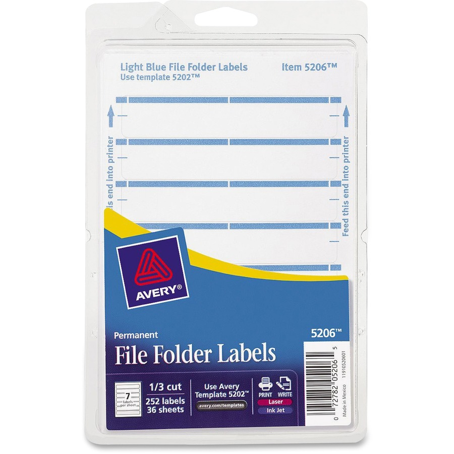 Avery Permanent File Folder Labels AVE 05206