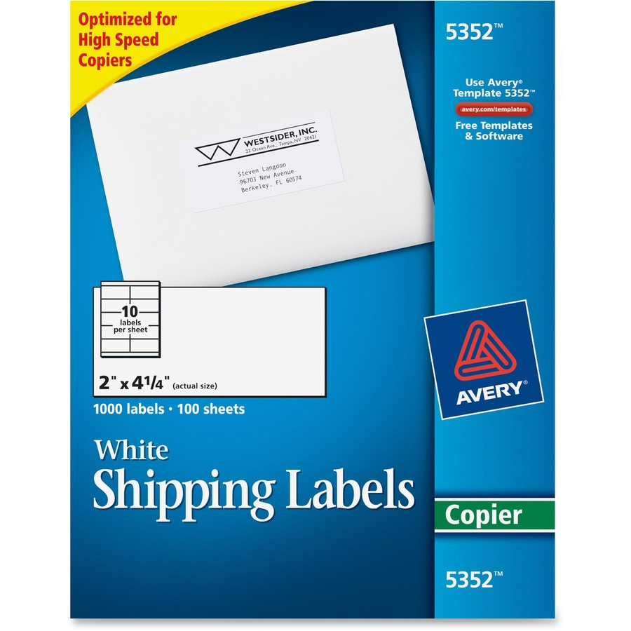 Avery 5352 Avery Copier Mailing Label Ave5352 Ave 5352 Office