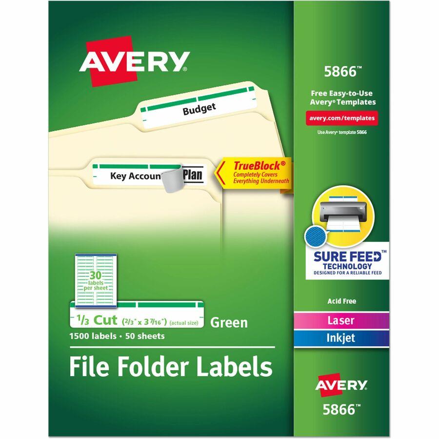 Averyreg Permanent File Folder Labels With TrueBlock Technology AVE5866