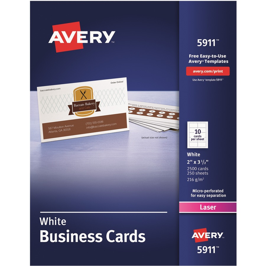 Avery laser print business card icc business products office averyreg laser print business card ave5911 colourmoves