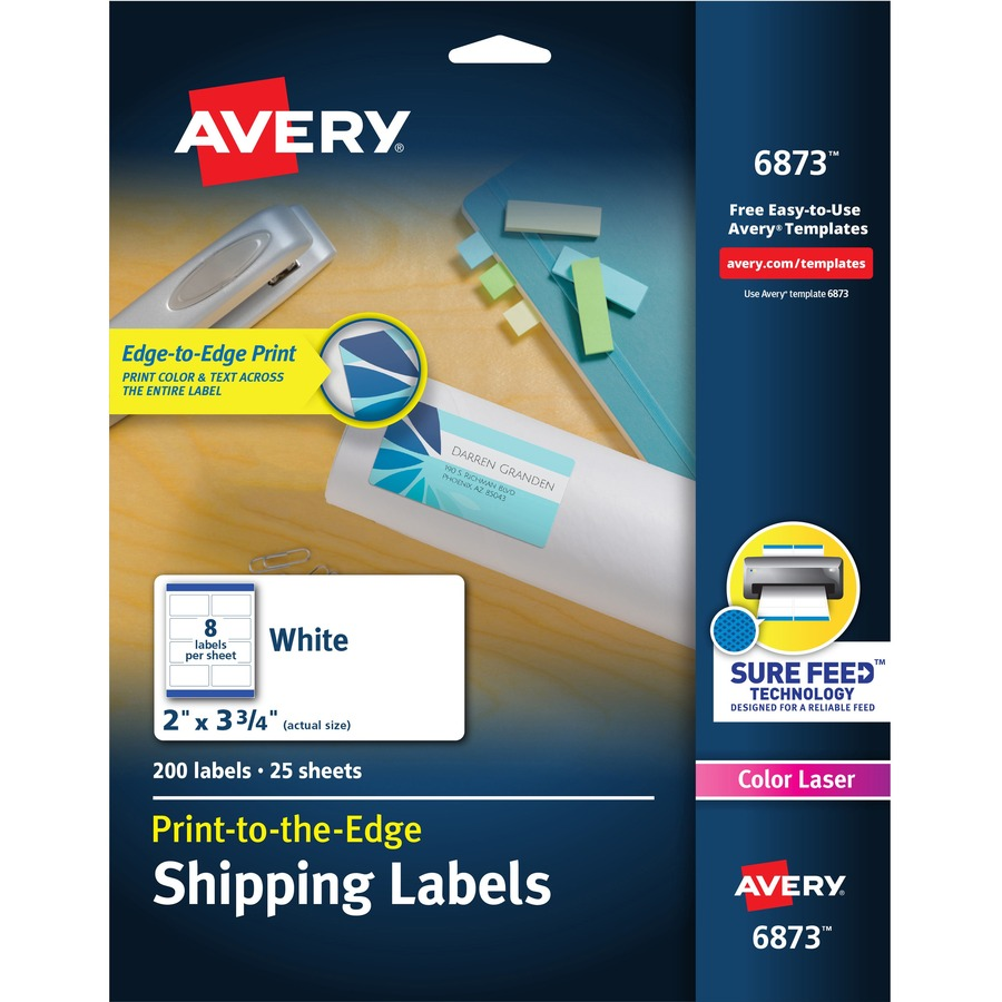 Avery color printing label ave6873 for Staples white mailing labels template
