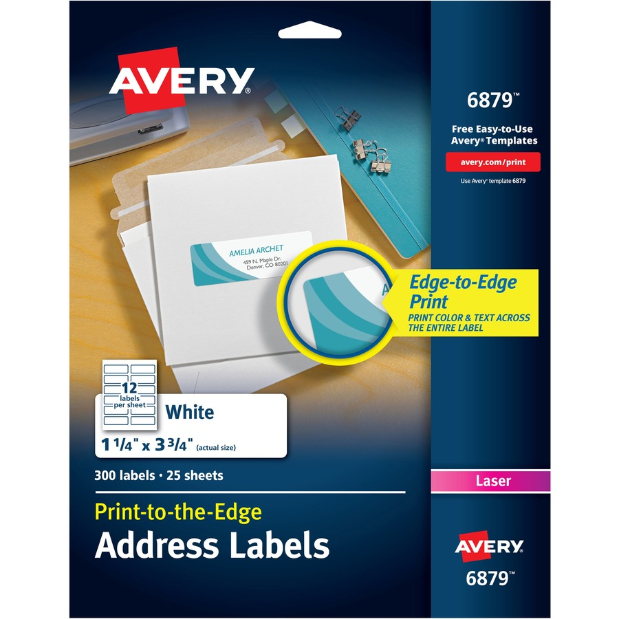 Avery® White Print-to-the-Edge Address Labels - 3 3/4