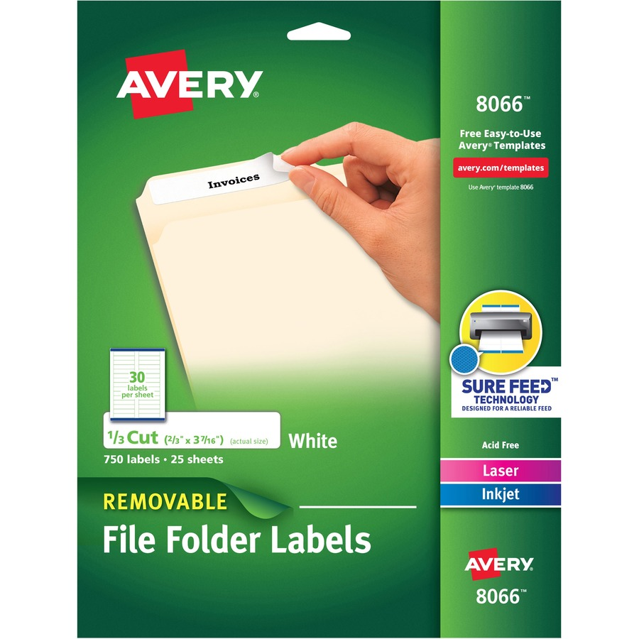 Avery 8066 Avery Removable Filing Labels Ave8066 Ave 8066