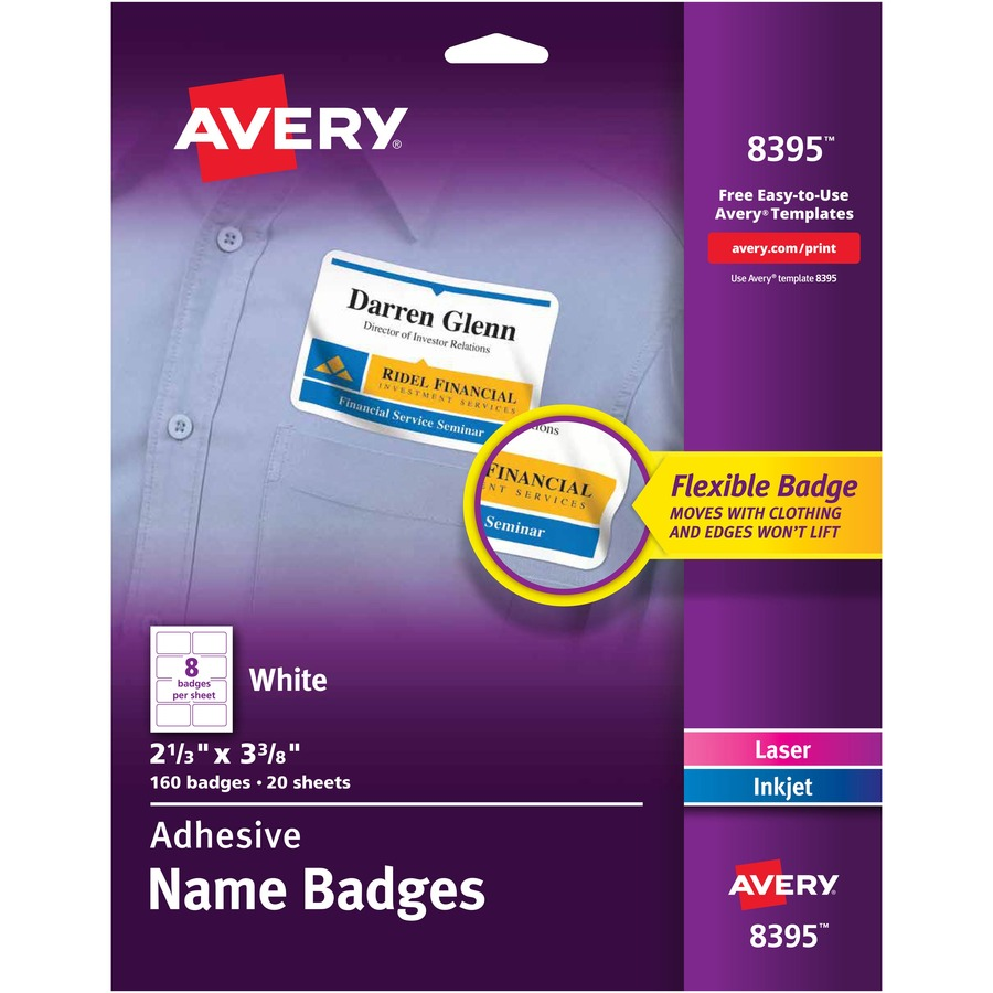 avery 8395  avery name badge label  ave8395  ave 8395