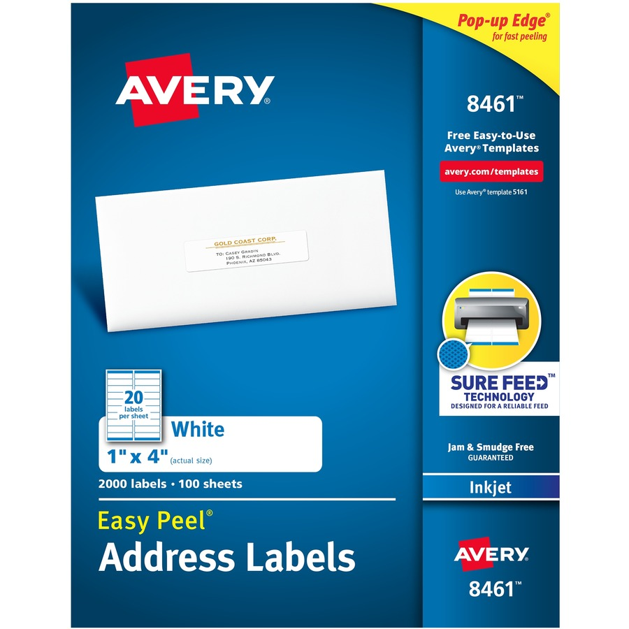 Avery White Easy Peel Address Labels - Direct Office Buys