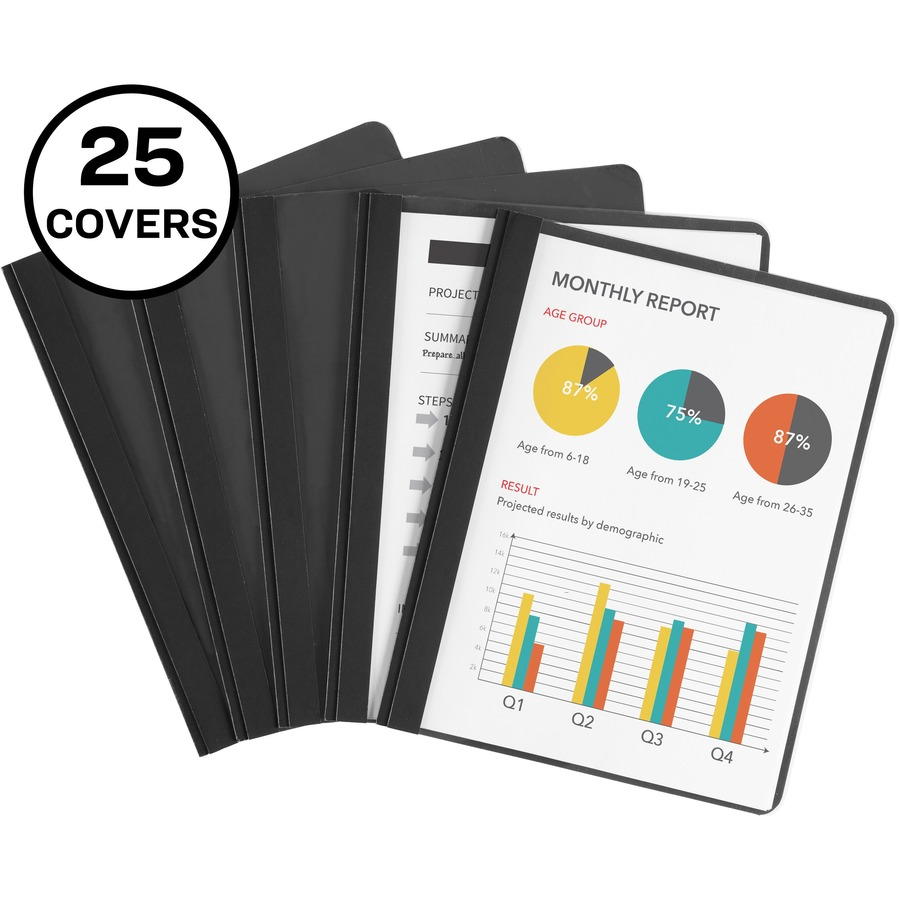 avery 47960 avery coated paper clear front report cover ave47960