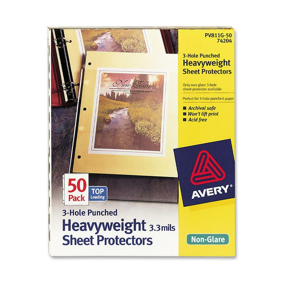 avery page size sheet protectors icc business products office