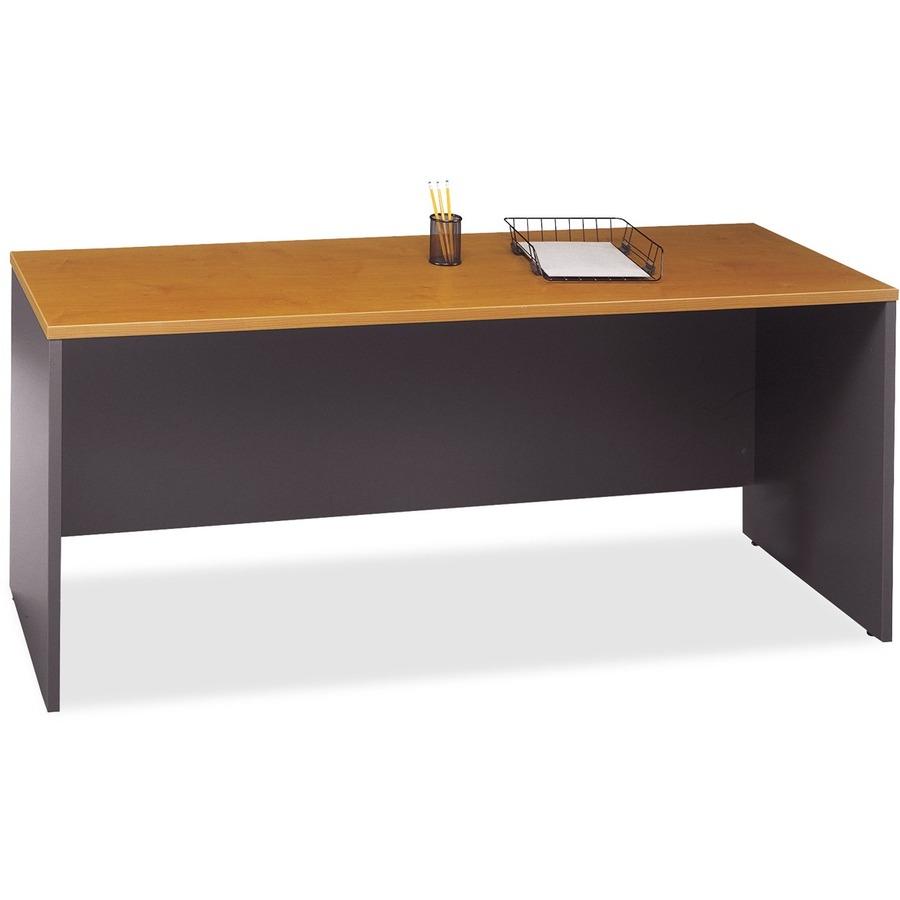 Fabulous Bush Business Furniture Series C72W Credenza Desk Shell In Natural Cherry 71 X 23 3 X 29 8 X 1 Material Melamine Pressboard Finish Download Free Architecture Designs Scobabritishbridgeorg