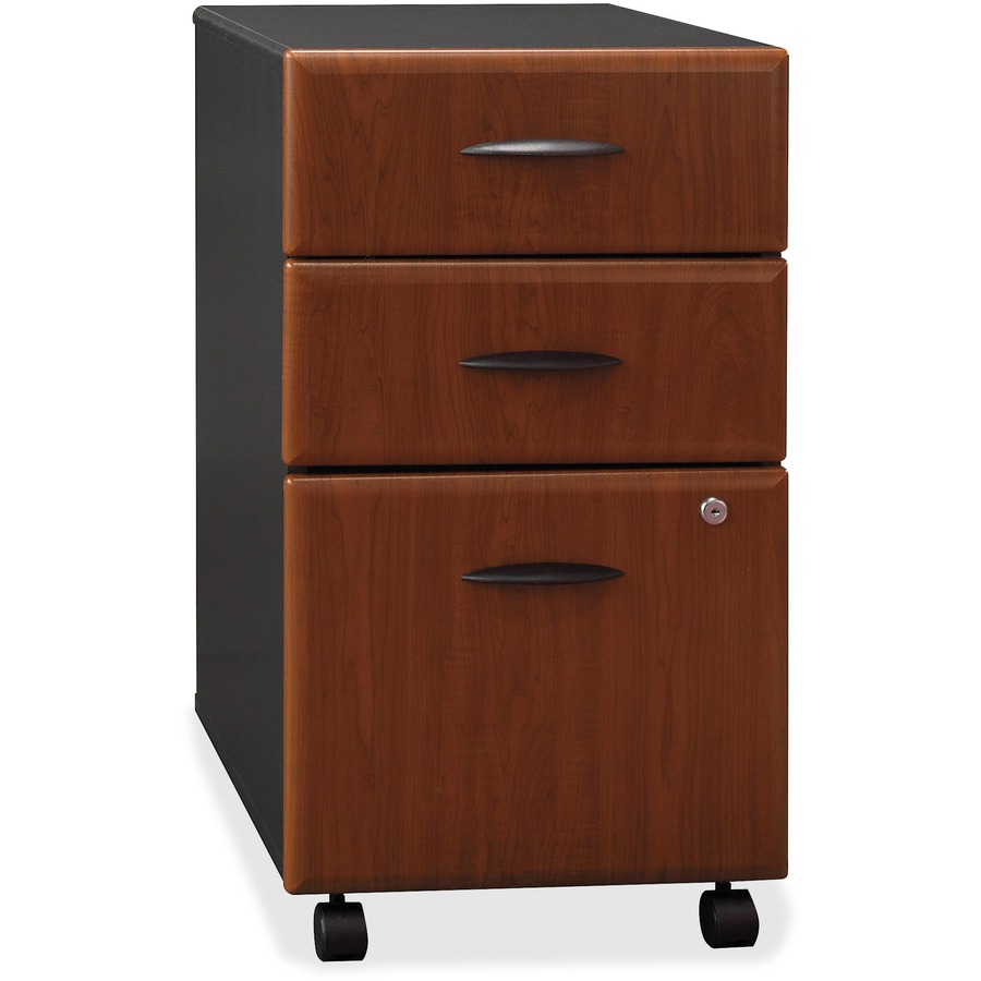 Bush business furniture series a 3 drawer mobile pedestal for Mobile furniture