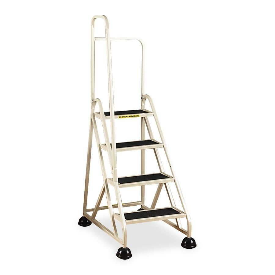 Superb Cramer Aluminum Left Handrail Stop Step Ladder Andrewgaddart Wooden Chair Designs For Living Room Andrewgaddartcom
