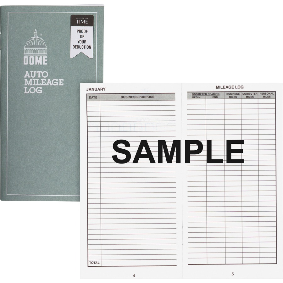 dome publishing 770 dome publishing auto mileage log dom770 dom