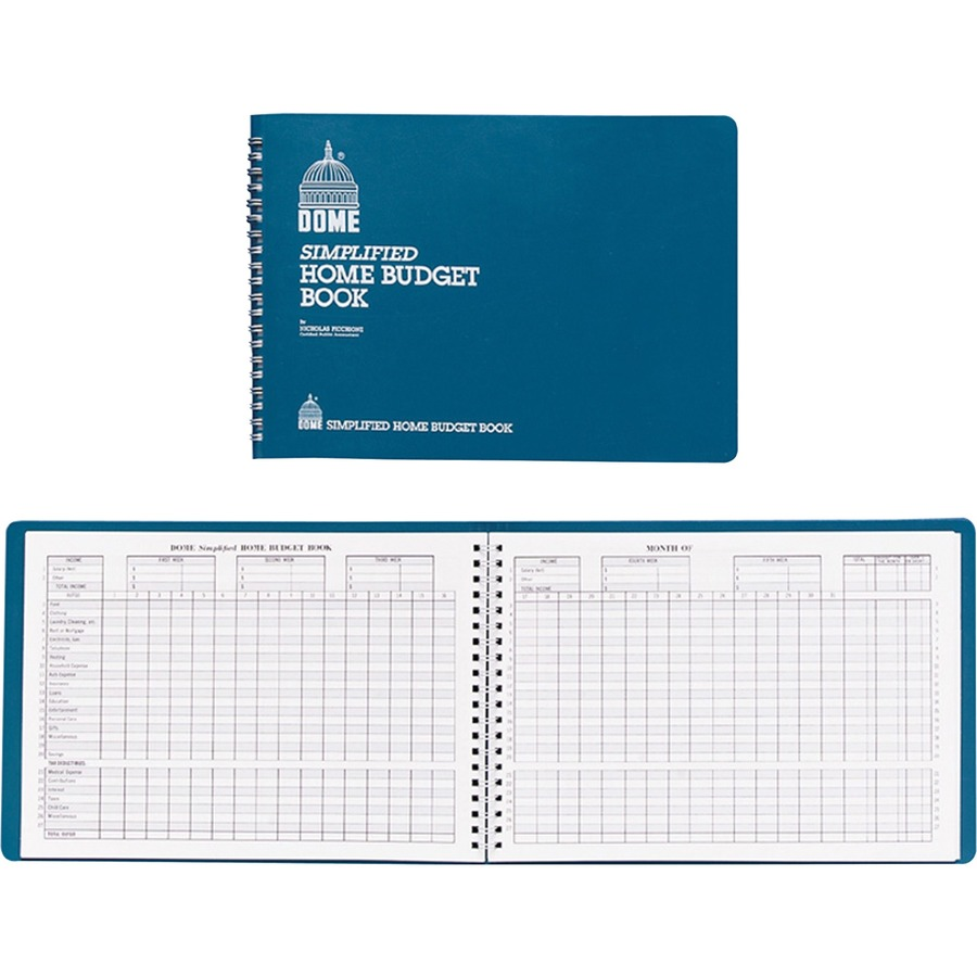Dome Simplified Home Budget Book DOM840
