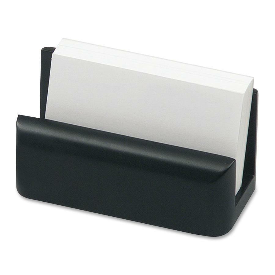 Rolodex Wood Tones Black Card Holder Rol62522