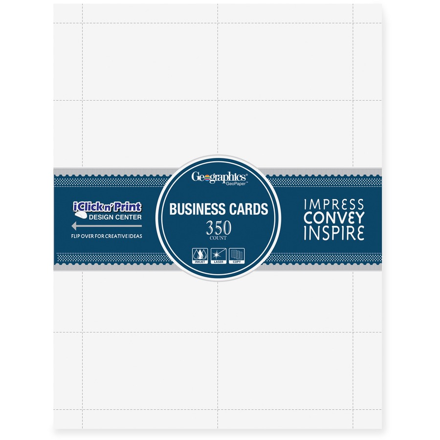 Geographics 39051, Geographics Blank Business Card, GEO39051, GEO ...