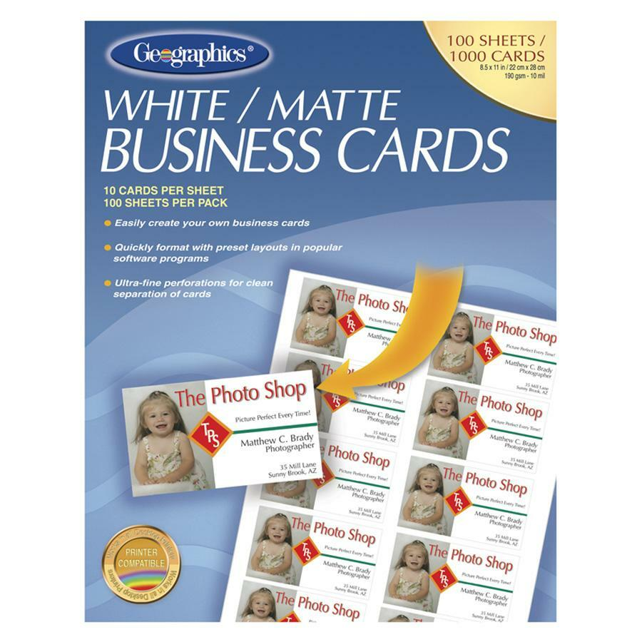 Geographics 46102 Geographics Royal Brites Business Card Geo46102