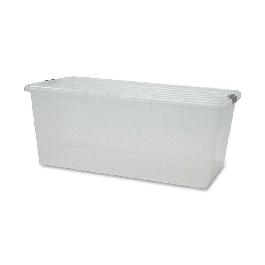 Iris Clear Storage Boxes With Lids IRS100201