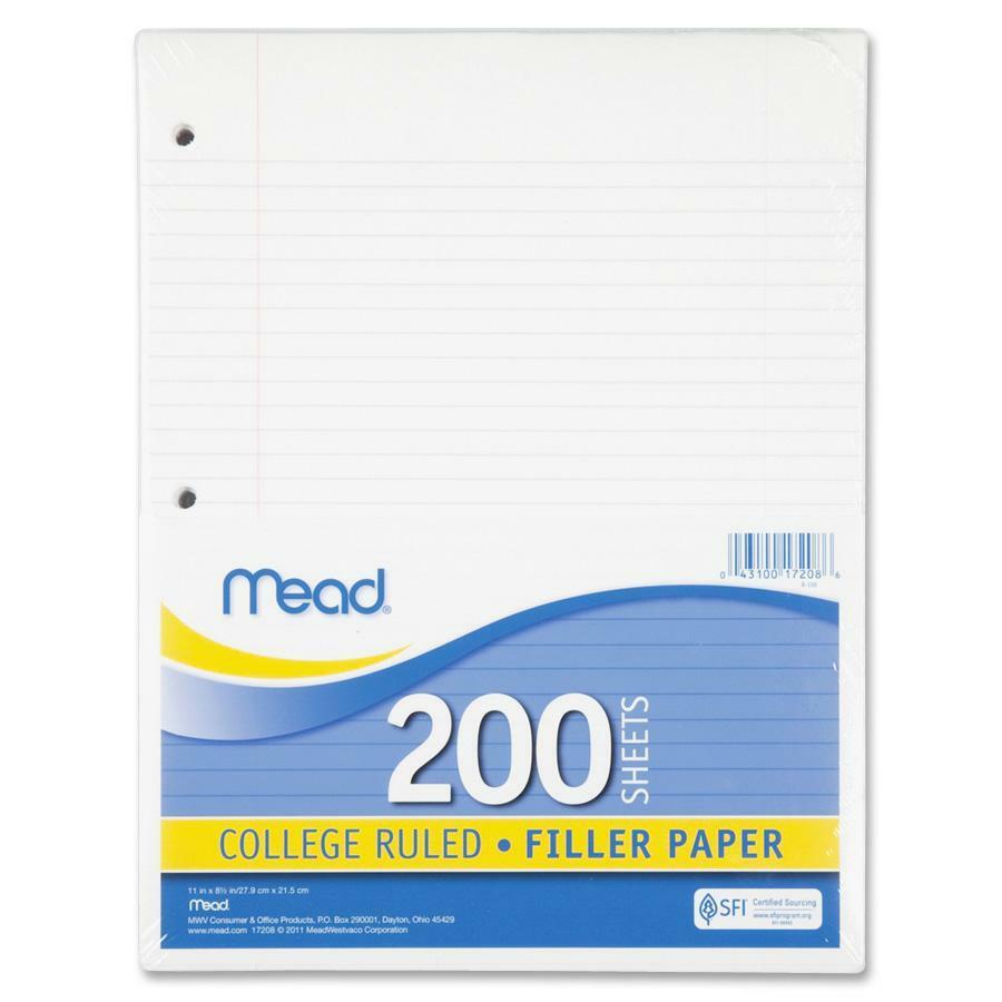 Mead Notebook Filler Paper Letter Mea17208