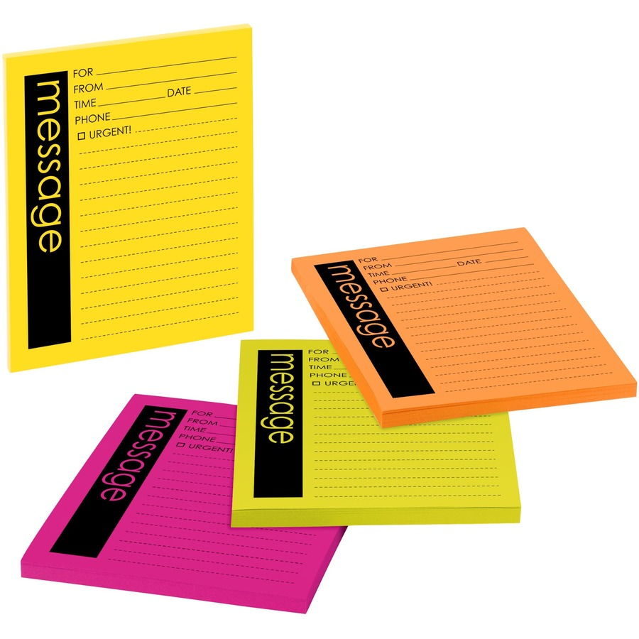 Post-it® Telephone Message Sticky Note Pads - 50 Sheet(s) - 5