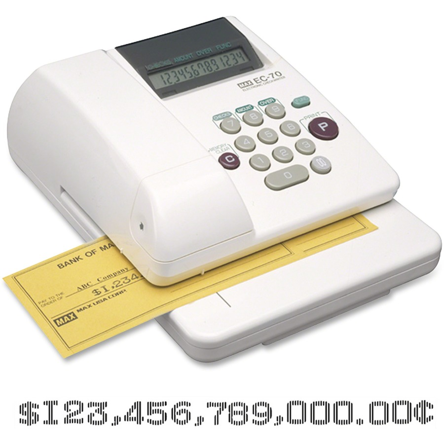 MAX 14 digit Print Electronic Check Writer